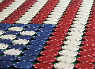 USA Flag - Poker Chips