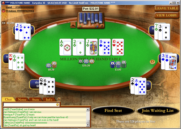 PokerStars 100 Billion Hand