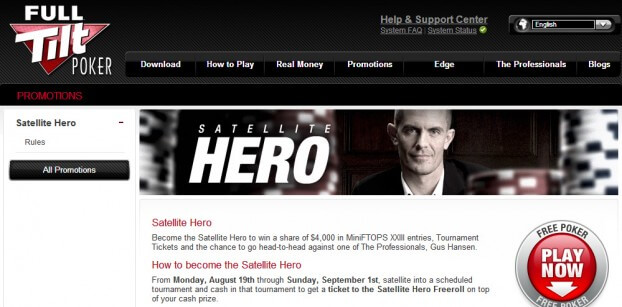 Satellite Hero - Full Tilt Poker