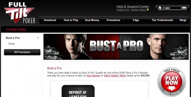 Full Tilt Poker - Bust a Pro