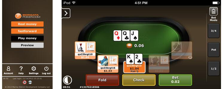 Borgtata iOS Poker App